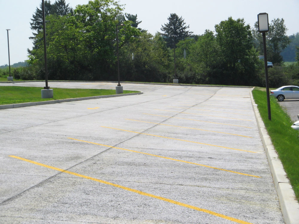 concrete parking lot