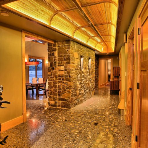 River Lodge Decorative Concrete Hall