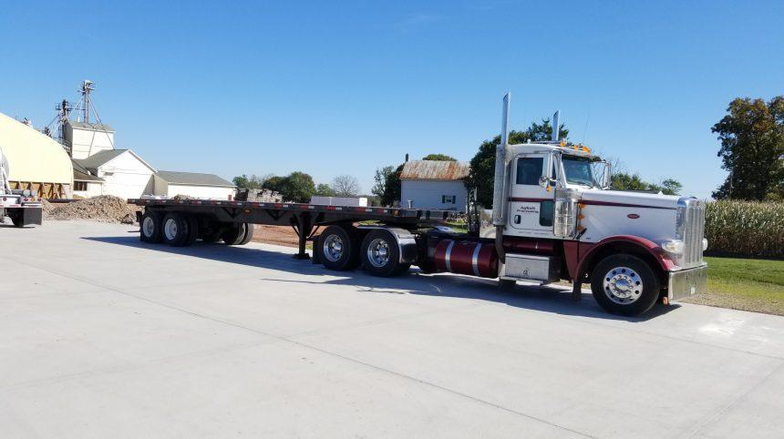 heavy duty concrete parking lot
