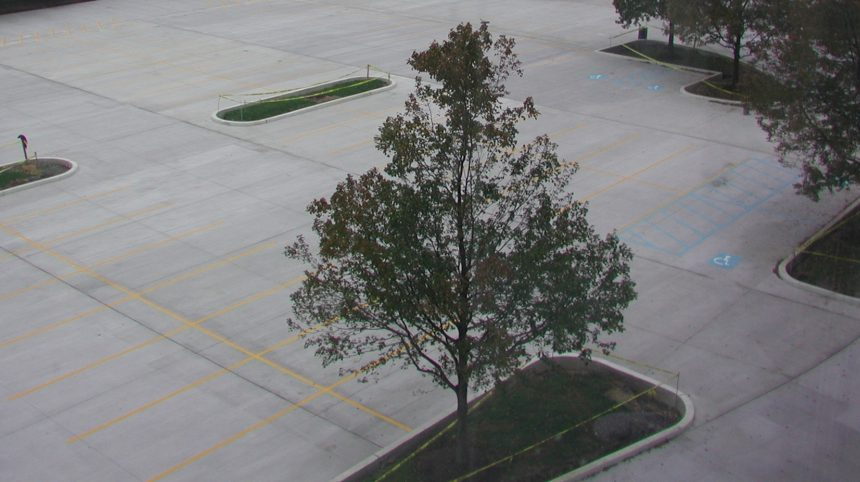 Conventional Concrete Parking Lot in pennsylvania